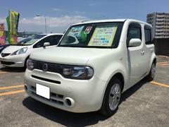 沖縄の中古車 日産 キューブ 車両価格 69万円 リ済込 平成23年 7.6万K ホワイトパール