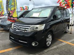沖縄の中古車 日産 セレナ 車両価格 69万円 リ済込 平成20年 12.1万K スーパーブラック