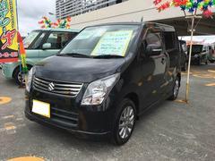 沖縄の中古車 スズキ ワゴンR 車両価格 65万円 リ済込 平成23年 7.9万K ブルーイッシュブラックパール3