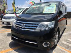 沖縄の中古車 日産 セレナ 車両価格 69万円 リ済込 平成20年 10.4万K スーパーブラック