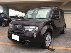 沖縄の中古車 日産 キューブ 車両価格 69万円 リ済込 平成24年 7.6万K ビターショコラP