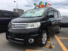沖縄の中古車 日産 セレナ 車両価格 59万円 リ済込 平成19年 11.5万K スーパーブラック