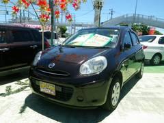沖縄の中古車 日産 マーチ 車両価格 39万円 リ済込 平成22後 6.9万K パープル