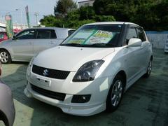 沖縄の中古車 スズキ スイフト 車両価格 49万円 リ済別 平成21年 7.1万K ホワイトパール