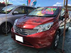 沖縄の中古車 日産 ノート 車両価格 68万円 リ済込 平成25年 6.3万K ラディアントレッドPM