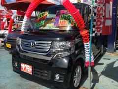 沖縄の中古車 ホンダ N BOXカスタム 車両価格 96万円 リ済込 平成24年 8.3万K クリスタルブラックパール