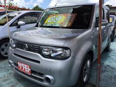 沖縄の中古車 日産 キューブ 車両価格 68万円 リ済込 平成26年 6.0万K ブリリアントシルバーM