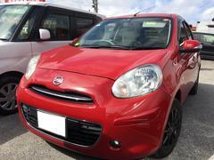 沖縄の中古車 日産 マーチ 車両価格 54万円 リ済込 平成23年 5.3万K バーニングレッド