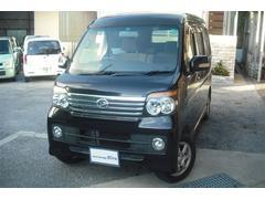 沖縄の中古車 ダイハツ アトレーワゴン 車両価格 64万円 リ済別 平成20年 7.1万K ブラックM