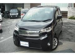 沖縄の中古車 三菱 eKカスタム 車両価格 62万円 リ済別 平成25年 9.0万K ブラックM