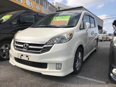沖縄の中古車 ホンダ ステップワゴン 車両価格 59万円 リ済込 平成20年 12.3万K パールホワイト