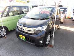 沖縄の中古車 三菱 eKカスタム 車両価格 60万円 リ済込 平成26年 6.1万K パープル