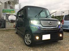 沖縄の中古車 ホンダ N BOXカスタム 車両価格 129万円 リ済込 平成25年 3.2万K ブラック