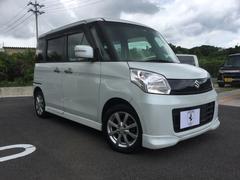 沖縄の中古車 スズキ スペーシア 車両価格 87万円 リ済込 平成26年 2.9万K ホワイトM