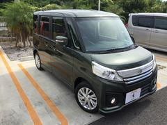 沖縄の中古車 スズキ スペーシアカスタム 車両価格 138万円 リ済込 平成28年 0.5万K グリーンM