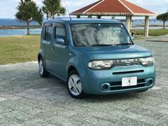 沖縄の中古車 日産 キューブ 車両価格 38万円 リ済込 平成22年 7.6万K ブルー