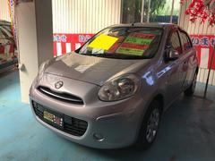 沖縄の中古車 日産 マーチ 車両価格 49万円 リ済込 平成22年 5.4万K ピンクM