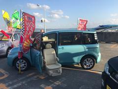 沖縄の中古車 トヨタ シエンタ 車両価格 49万円 リ済込 平成21年 9.0万K ライトブルー