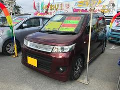 沖縄の中古車 スズキ ワゴンRスティングレー 車両価格 54万円 リ済込 平成21年 8.5万K クラッシーレッドパール