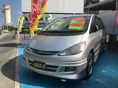 沖縄の中古車 トヨタ エスティマT 車両価格 20万円 リ済込 平成13年 7.9万K シルバー