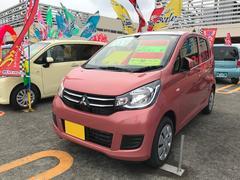 沖縄の中古車 三菱 eKワゴン 車両価格 106万円 リ済込 平成29年 5K ピンク