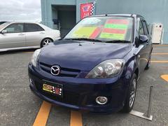 沖縄の中古車 マツダ デミオ 車両価格 29万円 リ済込 平成19年 7.7万K ストラトブルーマイカ