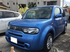沖縄の中古車 日産 キューブ 車両価格 59万円 リ済込 平成26年 7.3万K オーロラフレアブルーパール