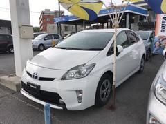 沖縄の中古車 トヨタ プリウス 車両価格 118.8万円 リ済別 平成25年 8.2万K ホワイト