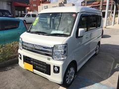 沖縄の中古車 スズキ エブリイワゴン 車両価格 143万円 リ済別 平成27年 0.5万K パールホワイト