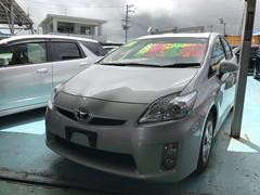 沖縄の中古車 トヨタ プリウス 車両価格 89万円 リ済別 平成22年 5.3万K シルバーメタリック