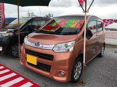 沖縄の中古車 スバル ステラ 車両価格 56万円 リ済別 平成23年 9.5万K オレンジ