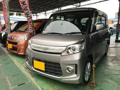 沖縄の中古車 スズキ スペーシアカスタム 車両価格 86万円 リ済別 平成25年 9.4万K グレーM