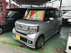 沖縄の中古車 ホンダ N BOXカスタム 車両価格 99万円 リ済別 平成25年 8.8万K シルバー