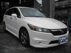 沖縄の中古車 ホンダ ストリーム 車両価格 55万円 リ済込 平成20年 9.4万K パールホワイト