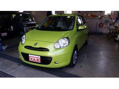 沖縄の中古車 日産 マーチ 車両価格 59万円 リ済別 平成24年 5.3万K Lグリーン