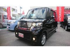 沖縄の中古車 ホンダ N BOXカスタム 車両価格 112万円 リ済込 平成24年 6.8万K ブラック