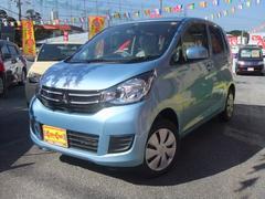 沖縄の中古車 三菱 eKワゴン 車両価格 106万円 リ済込 平成29年 4K ウォーターブルーメタリック