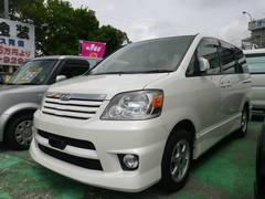 沖縄の中古車 トヨタ ノア 車両価格 39万円 リ済別 平成15年 11.6万K ホワイトパールマイカ