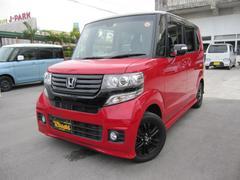 沖縄の中古車 ホンダ N BOX+カスタム 車両価格 114万円 リ済込 平成26年 8.6万K ミラノレッドII