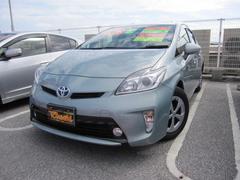 沖縄の中古車 トヨタ プリウス 車両価格 124万円 リ済込 平成24年 6.5万K LグリーンM