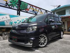 沖縄の中古車 トヨタ ヴォクシー 車両価格 78万円 リ済込 平成19年 9.9万K ダークブルーマイカ