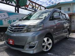 沖縄の中古車 トヨタ アルファードV 車両価格 88万円 リ済込 平成18年 7.9万K グレー