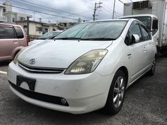 沖縄の中古車 トヨタ プリウス 車両価格 20万円 リ済込 平成18年 23.1万K パールホワイト