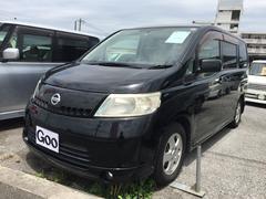 沖縄の中古車 日産 セレナ 車両価格 30万円 リ済込 平成18年 10.5万K ブラック