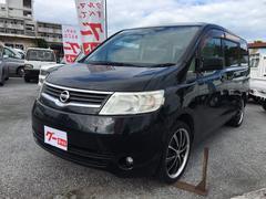 沖縄の中古車 日産 セレナ 車両価格 35万円 リ済込 平成18年 12.8万K ブラック