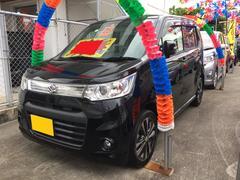 沖縄の中古車 スズキ ワゴンRスティングレー 車両価格 73万円 リ済込 平成25年 8.7万K ブラック