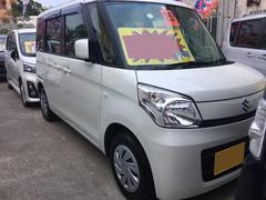 沖縄の中古車 スズキ スペーシア 車両価格 67万円 リ済込 平成25年 8.2万K ホワイト