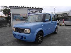 沖縄の中古車 日産 キューブ 車両価格 23万円 リ済込 平成20年 11.9万K ライトブルー