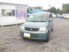 沖縄の中古車 三菱 eKワゴン 車両価格 18万円 リ済込 平成18年 9.1万K ライトグリーンマイカ