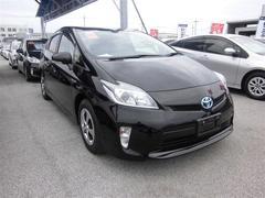沖縄の中古車 トヨタ プリウス 車両価格 169万円 リ済別 平成25年 4.1万K ブラック